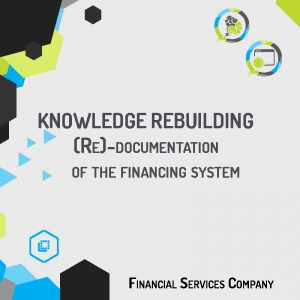 Reconstruction of an easy-to-use functional map of the Financing System, available in KPS, with the objective of acquiring a complete Know-how of the software asset.