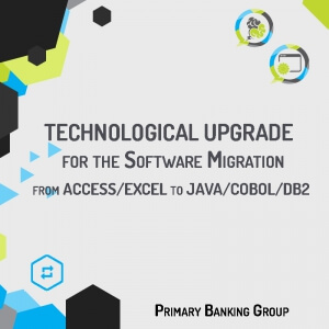Iso-functional migration of the application developed in ACCESS with Macro VBA into the new JAVA/Cobol/DB2 three level-platform according to the technological standards of the Customer.