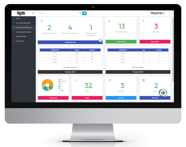 Screen KPS (application dashboard)